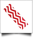 The Coral Palms™ Stretch Headband in Chevron Print - RED/WHITE - CLOSEOUT