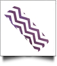 The Coral Palms™ Stretch Headband in Chevron Print - PURPLE/WHITE - CLOSEOUT