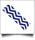 The Coral Palms™ Stretch Headband in Chevron Print - NAVY/WHITE - CLOSEOUT