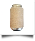 The Coral Palms™ Reversible Jute & Canvas 12oz Velcro Can Wrap