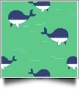 Whaley Cute in MINT - QuickStitch Embroidery Paper - One 8.5in x 11in Sheet
