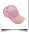 The Coral Palms� Ponytail Trucker Cap - LIGHT PINK - CLOSEOUT