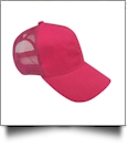 The Coral Palms� Ponytail Trucker Cap - HOT PINK - CLOSEOUT