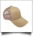 The Coral Palms� Ponytail Trucker Cap - KHAKI - CLOSEOUT
