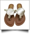The Coral Palms� Kids EasyStitch Medallion Sandals - CHAMPAGNE GOLD