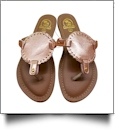 The Coral Palms� Kids EasyStitch Medallion Sandals - ROSE GOLD
