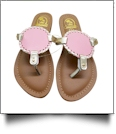 The Coral Palms� Kids EasyStitch Medallion Sandals - PINK/GOLD TRIM