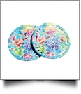 "3"" EasyStitch Medallion Add-Ons One Pair - RAINBOW CORAL - CLOSEOUT"
