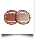 "The Coral Palms® 3"" EasyStitch Medallion Add-Ons One Pair - FOOTBALL"