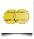 "The Coral Palms� 3"" EasyStitch Medallion Add-Ons One Pair - SOFTBALL"