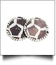 "The Coral Palms� 3"" EasyStitch Medallion Add-Ons One Pair - SOCCER"