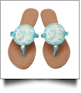 The Floridian Series EasyStitch Medallion Sandals - AQUA MERMAID - CLOSEOUT