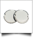 "The Coral Palms� 3"" EasyStitch Medallion Add-Ons One Pair - WHITE/CHAMPAGNE GOLD"