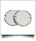 "The Coral Palms� 3"" EasyStitch Medallion Add-Ons One Pair - WHITE/SILVER"