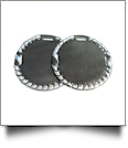 "The Coral Palms� 3"" EasyStitch Medallion Add-Ons One Pair - BLACK/SILVER"