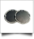 "The Coral Palms� 3"" EasyStitch Medallion Add-Ons One Pair - BLACK/CHAMPAGNE GOLD"