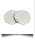 "3"" EasyStitch Medallion Add-Ons One Pair - WHITE/WHITE TRIM"