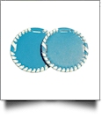 "The Coral Palms� 3"" EasyStitch Medallion Add-Ons One Pair - TURQUOISE/WHITE TRIM"