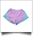 The Coral Palms™ Gingham Fashion Athletic Shorts - PINK/MINT - CLOSEOUT