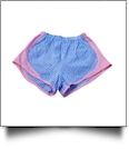 The Coral Palms® Gingham Fashion Athletic Shorts - BLUE/PINK - CLOSEOUT