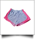 The Coral Palms™ Gingham Fashion Athletic Shorts - NAVY/HOT PINK - CLOSEOUT