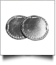 "The Coral Palms® 3"" EasyStitch Medallion Add-Ons One Pair - SILVER"