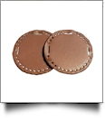 "The Coral Palms� 3"" EasyStitch Medallion Add-Ons One Pair - BROWN"