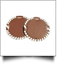 "The Coral Palms® 3"" EasyStitch Medallion Add-Ons One Pair - BROWN/WHITE"