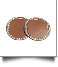 "The Coral Palms® 3"" EasyStitch Medallion Add-Ons One Pair - BROWN/CHAMPAGNE GOLD"