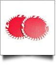 "The Coral Palms� 3"" EasyStitch Medallion Add-Ons One Pair - RED/WHITE"