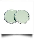 "The Coral Palms� 3"" EasyStitch Medallion Add-Ons One Pair - MINT/SILVER"