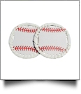 "The Coral Palms® 3"" EasyStitch Medallion Add-Ons One Pair - BASEBALL"