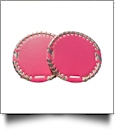"The Coral Palms� 3"" EasyStitch Medallion Add-Ons One Pair - HOT PINK/CHAMPAGNE GOLD"