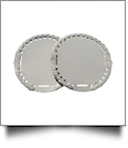 "The Coral Palms� 3"" EasyStitch Medallion Add-Ons One Pair - GRAY"