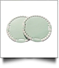"The Coral Palms� 3"" EasyStitch Medallion Add-Ons One Pair - MINT/WHITE"