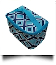 Times Square Print Cosmetic Bag Embroidery Blanks - TURQUOISE TRIM