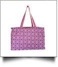 Times Square Print Ultimate Tote - HOT PINK TRIM