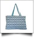 Times Square Print Ultimate Tote - TURQUOISE TRIM
