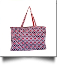 Times Square Print Ultimate Tote - RED TRIM