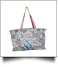 Paisley Print Ultimate Tote - HOT PINK TRIM - CLOSEOUT