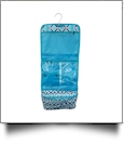 Times Square Print Hanging Cosmetic Bag Embroidery Blanks - TURQUOISE TRIM