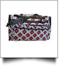 Graphic Print Large Duffel Bag Embroidery Blanks - BLACK TRIM