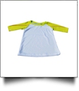 The Coral Palms™ Toddler Sports Raglan Shirt - SOFTBALL/WHITE - CLOSEOUT
