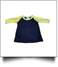 The Coral Palms™ Toddler Sports Raglan Shirt - SOFTBALL/BLACK - CLOSEOUT