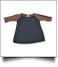 The Coral Palms® Toddler Sports Raglan Shirt - FOOTBALL/BLACK - CLOSEOUT