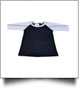 The Coral Palms™ Toddler Sports Raglan Shirt - BASEBALL/BLACK