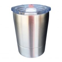 8oz Double Wall Stainless Steel Super Tumbler - STAINLESS STEEL