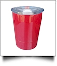 8oz Double Wall Stainless Steel Super Tumbler - RASPBERRY RED