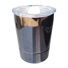8oz Double Wall Stainless Steel Super Tumbler - BLACK - CLOSEOUT