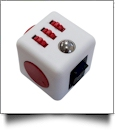 Fidget Cube  - WHITE/RED - CLOSEOUT